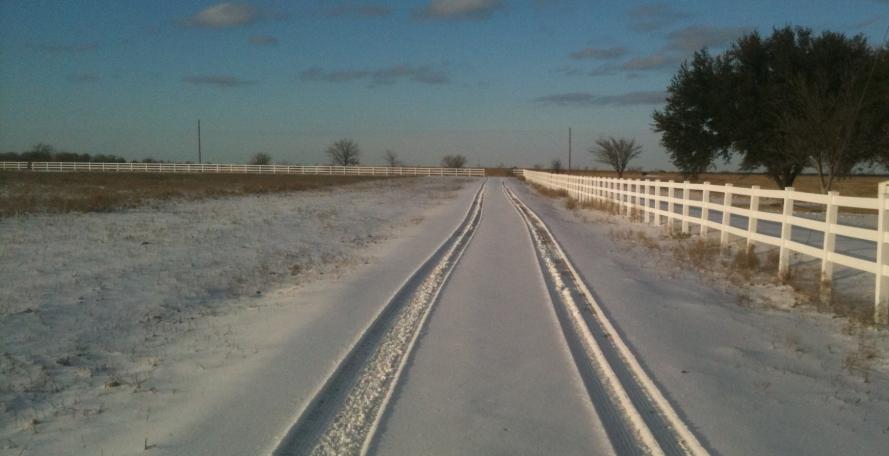North pasture driveway